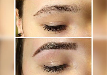 Tinting and Eyebrow Shaping
